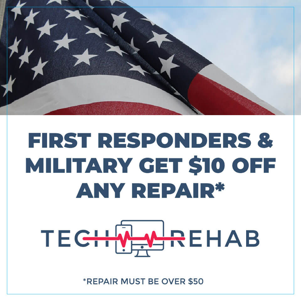 first responders and military get $10 off any repair for their devices