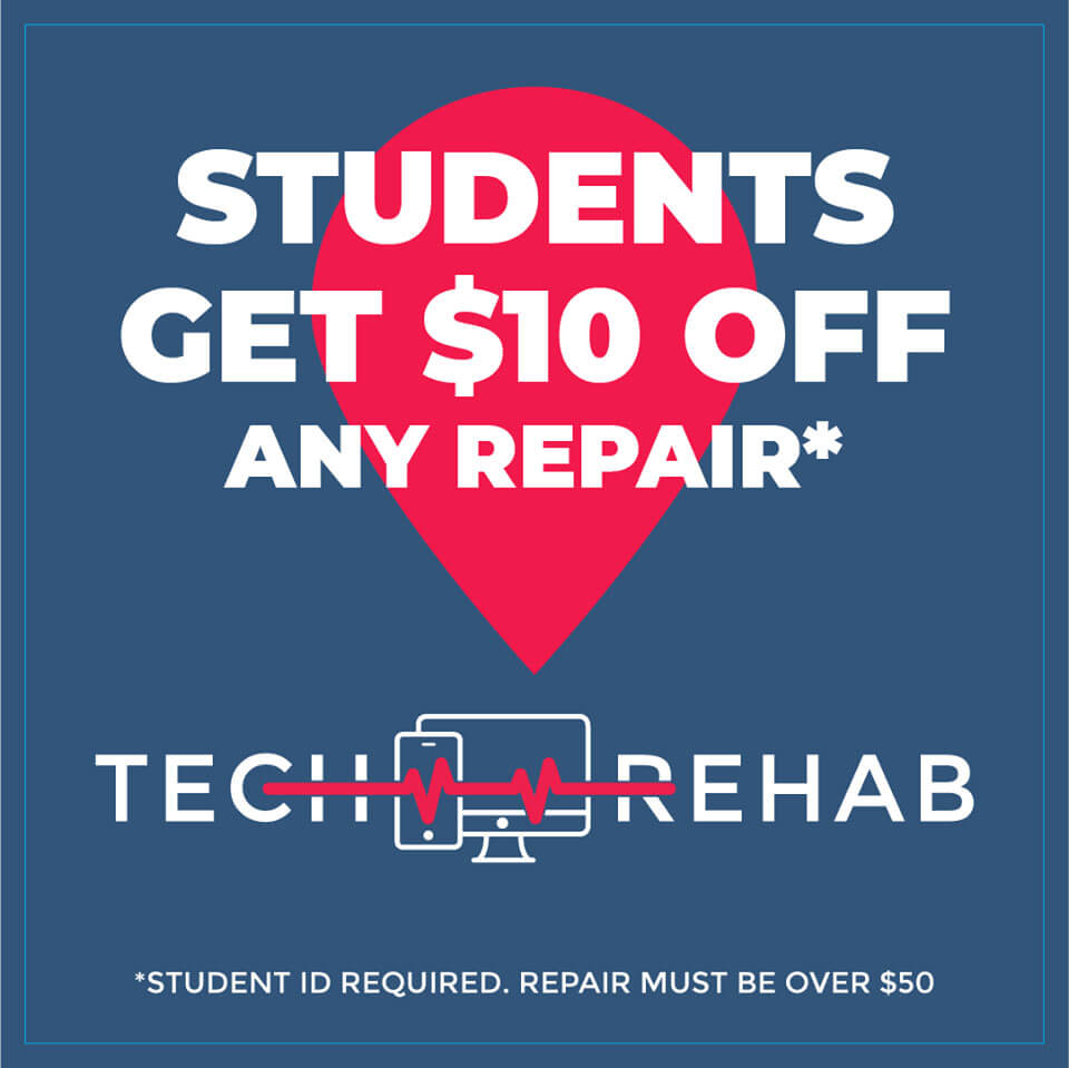 students get $10 off any repair for their devices